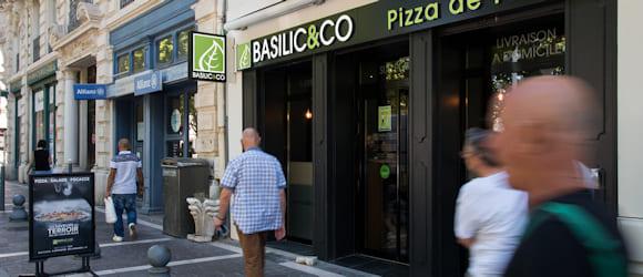 Façade du restaurant Basilic & Co Béziers (Riquet)