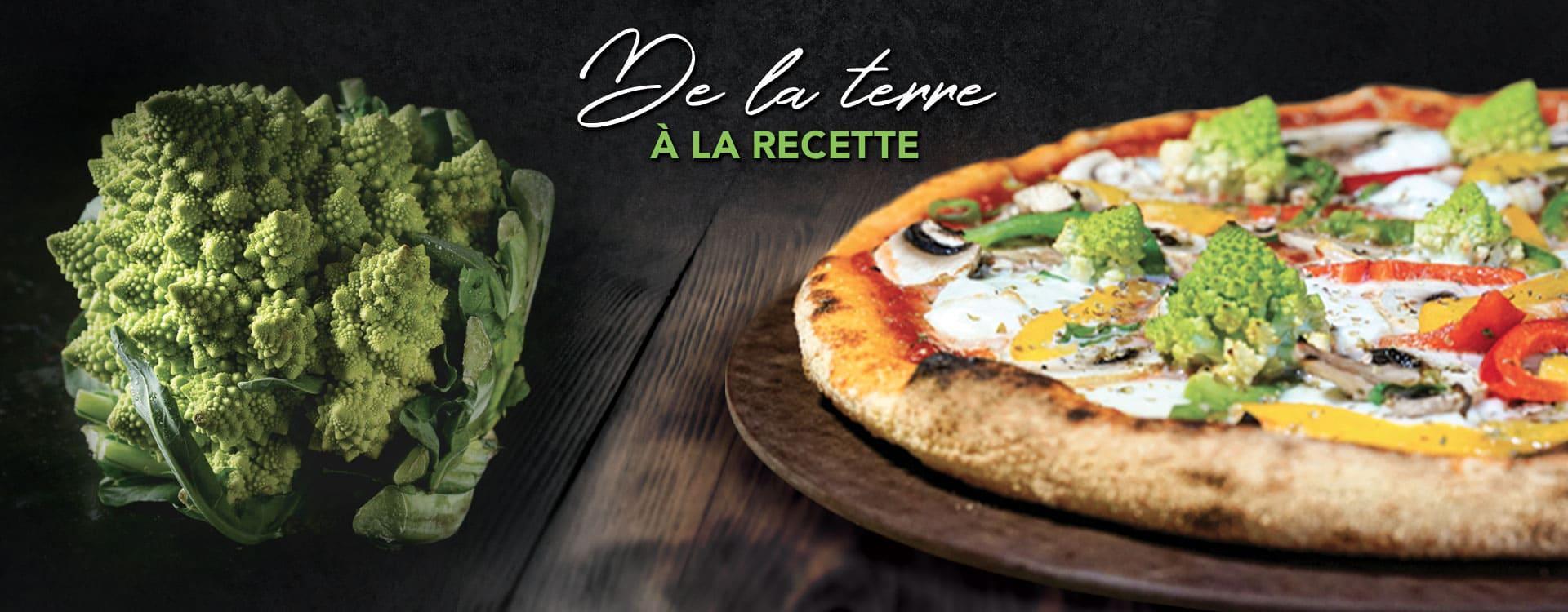 Pizza végétarienne Di Bufala, par Basilic & Co