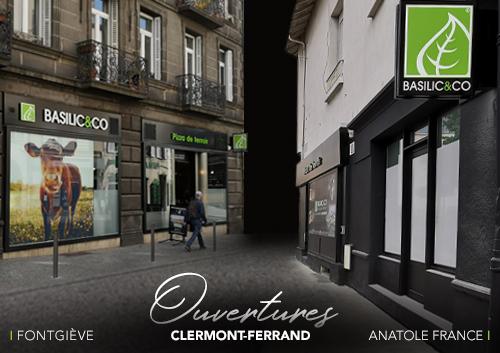 Façade des deux restaurants Basilic & Co de Clermont-Ferrand