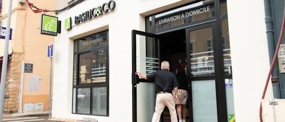 Façade du restaurant Basilic & Co Villefranche-sur-Saône