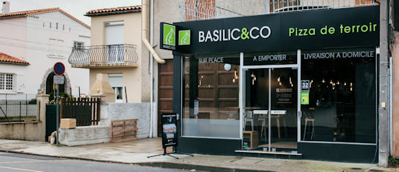 Façade du restaurant Basilic & Co Carcassonne (Roosevelt)