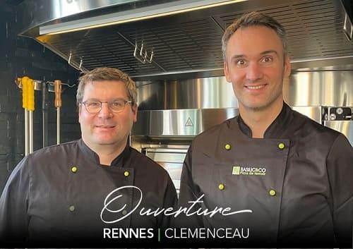 Mickaël Pioche et Louis Brochard dans leur nouveau restaurant à Rennes Clémenceau