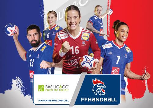 Basilic & Co fournisseur officiel des équipes de France de handball