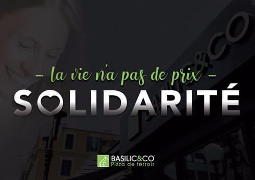 """Photo de Basilic & Co """"la vie la pas de prix"""" en solidarité dans la lutte contre le coronavirus"""