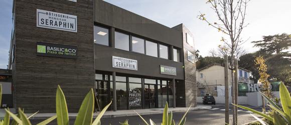 Façade extérieure du restaurant Basilic & Co de Castelnau-le-Lez