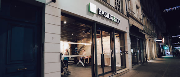 Façade du restaurant Basilic & Co Nancy