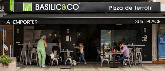 Façade restaurant Basilic & Co Privas